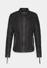 Tigha - CADAN - Leather jacket - black stone wash - 4