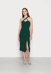 WAL G. - SAVANAH HALTER NECK MIDI DRESS - Jersey dress - forest green - 0