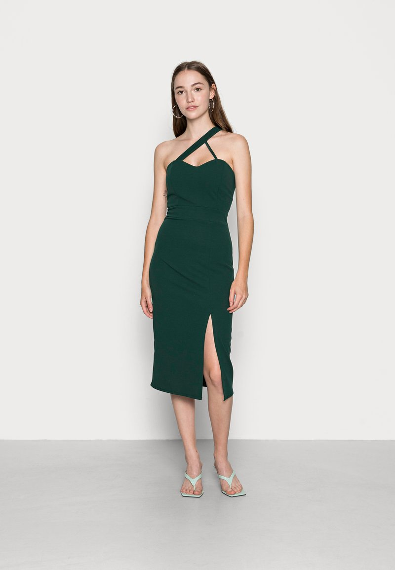 WAL G. - SAVANAH HALTER NECK MIDI DRESS - Jersey dress - forest green