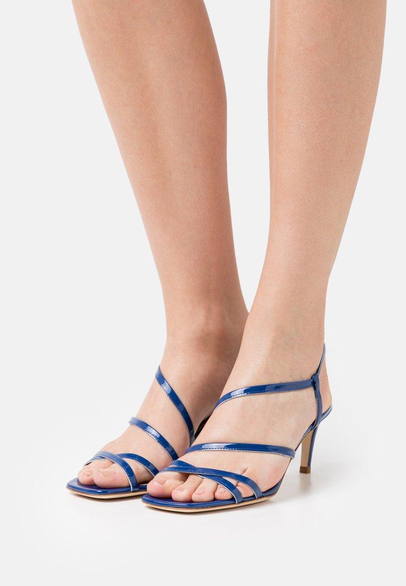 TWINSET - TACCO MEDIO  - Sandals - nautical blue