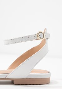 Anna Field - LEATHER  - Slingback ballet pumps - white - 2