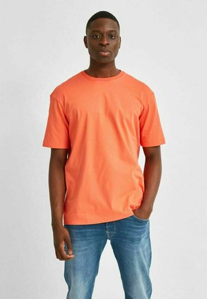 Basic T-shirt - coral quartz