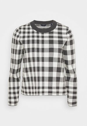 CHECKED INTARSIA CREW - Jumper - antracit/melange