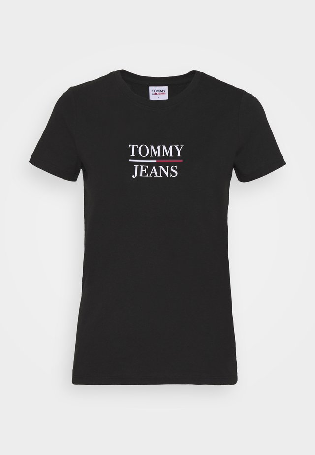 ESSENTIAL - T-shirt con stampa - black