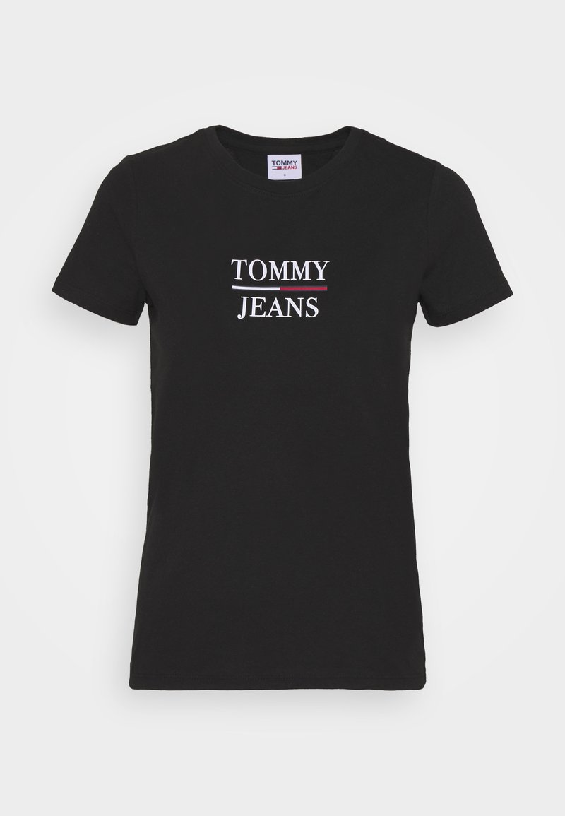 Tommy Jeans - ESSENTIAL - T-shirt imprimé - black
