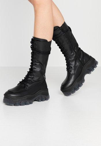 JAXSTAR - Platform boots - black