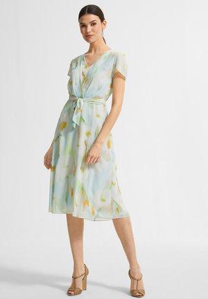 Jersey dress - mint green faded flower