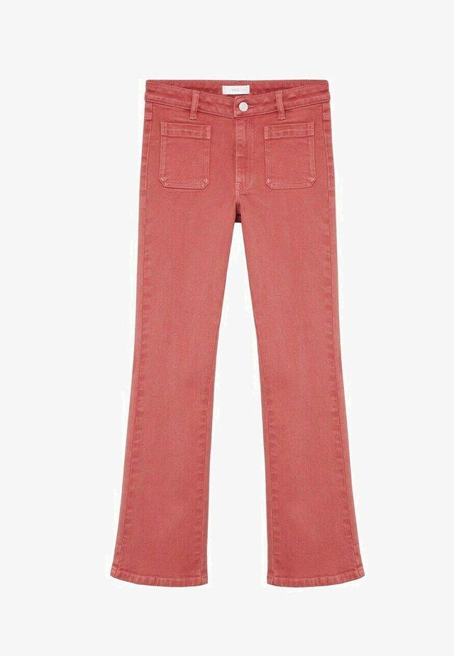 GIGIC - Jeans a zampa - oranjebruin