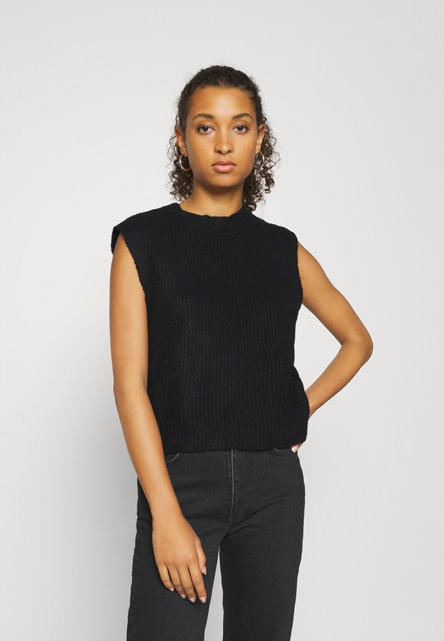 YASALLY  WAISTCOAT  - T-shirt med print - black