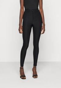 Vero Moda Tall - VMAUGUSTA SKINNY SOLID PANT TALL - Trousers - black - 0