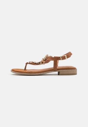 BY GUIDO MARIA KRETSCHMER - T-bar sandals - cognac