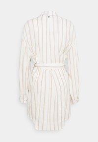 Dondup - STRIPED LINEN DRESS - Shirt dress - beige - 1