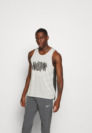 RISE TANK - Sports shirt - light bone/smoke grey
