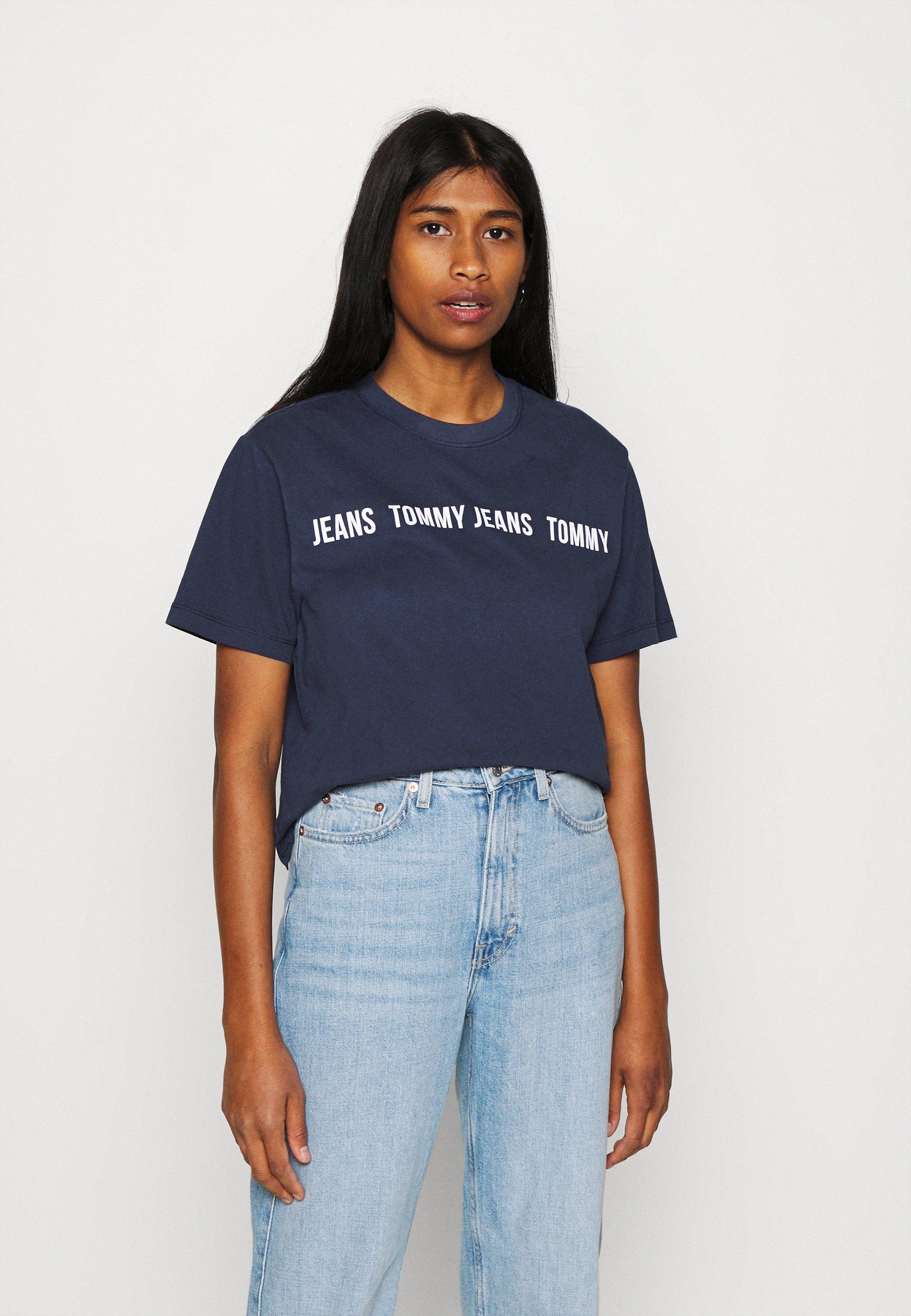 Women CROP TAPE TEE - Print T-shirt