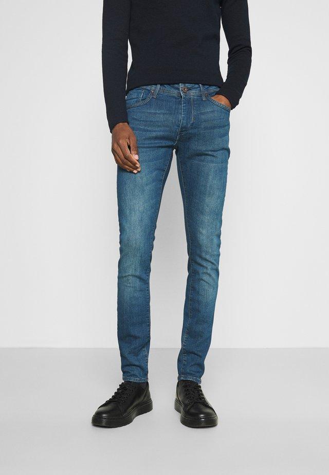 LIAM - Jean slim - washed dark blue denim