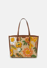 Tory Burch - PERRY EMBROIDERED TRIPLE COMPARTMENT TOTE - Tote bag - natural - 0