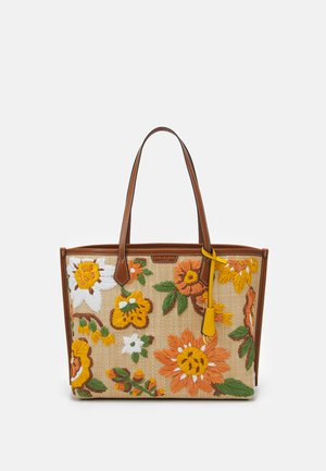 PERRY EMBROIDERED TRIPLE COMPARTMENT TOTE - Velká kabelka - natural