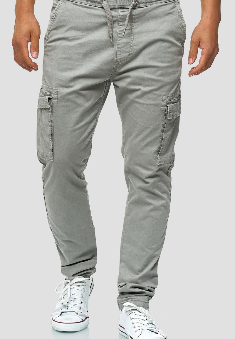 INDICODE JEANS - BROADWICK - Cargo trousers - gray