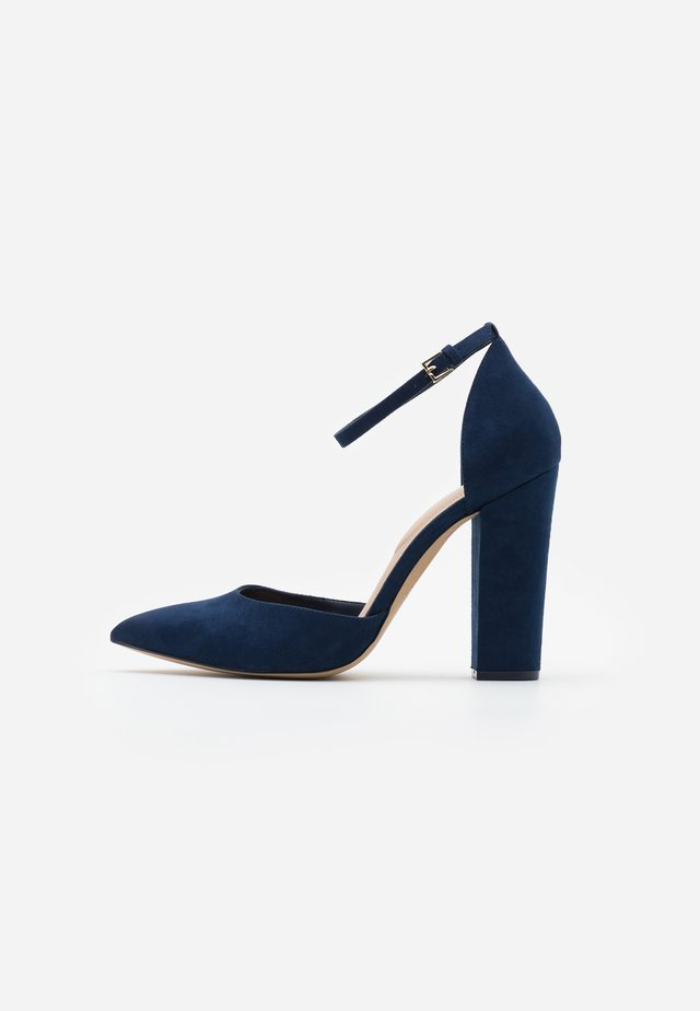 NICHOLES WIDE FIT - High heels - navy