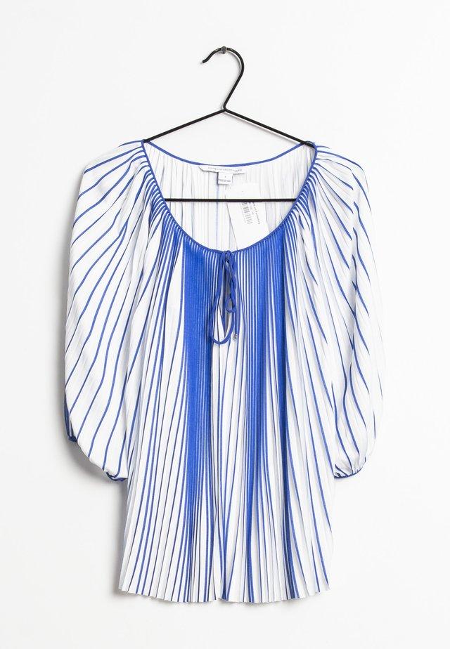 Blouse - blue/white