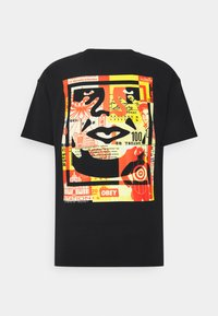Obey Clothing - OBEY FACE COLLAGE - Print T-shirt - black - 1