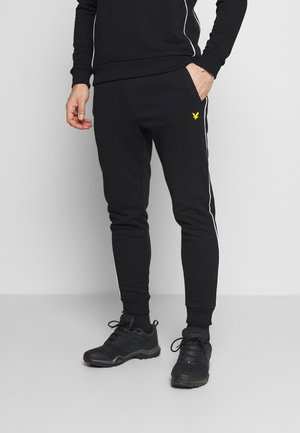 WITH CONTRAST PIPING - Jogginghose - true black