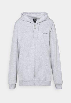 ZIP THROUGH HOODIE - Zip-up hoodie - grey marl