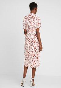 PIECES Tall - PCEYVA WRAP DRESS  - Maxi dress - bright white/redwood - 2
