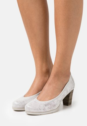 Tacones - white metallic