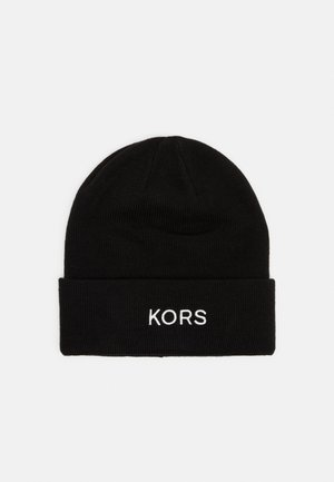 EMBROIDERED CUFF HAT UNISEX - Beanie - black