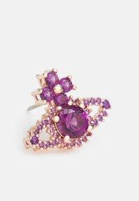 Vivienne Westwood - VALENTINA ORB EARRINGS - Earrings - rose gold-coloured/purple - 4