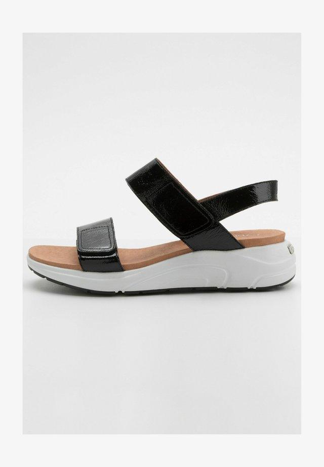Sandales compensées - schwarz