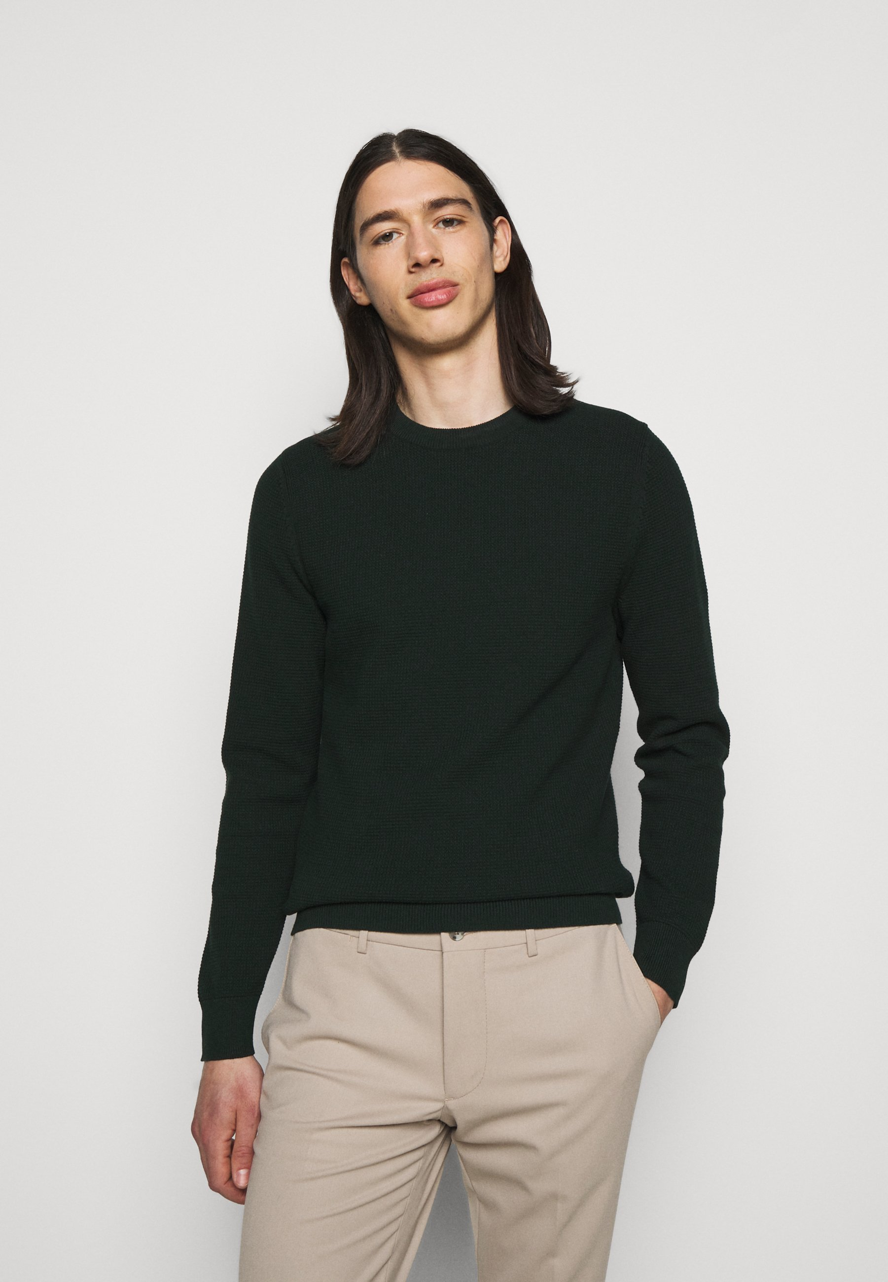 Homme ANDY STRUCTURE C-NECK - Pullover