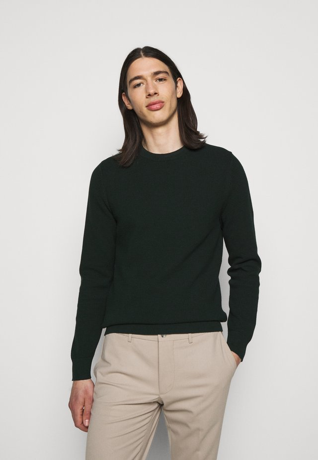 ANDY STRUCTURE C-NECK - Pullover - hunter green