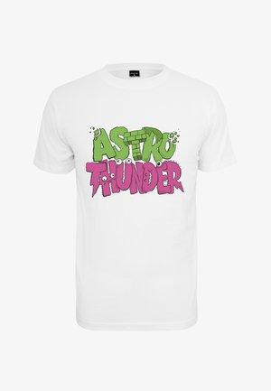 ASTRO THUNDER TEE - Print T-shirt - white