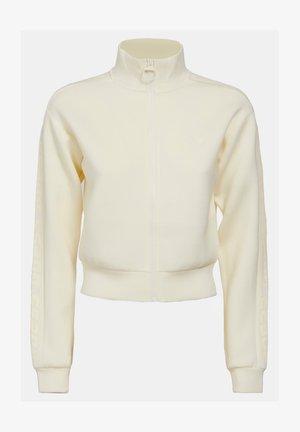 veste en sweat zippée - weiß