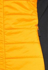 Kjus - WOMEN MUNDIN MIDLAYER JACKET - Fleecová bunda - black mel/gold honey yellow - 3
