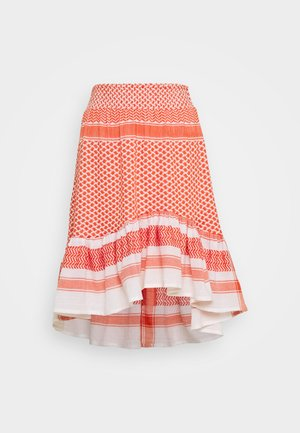 STINNE - A-line skirt - coral
