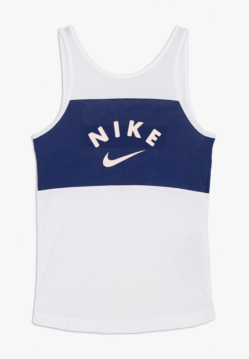Nike Performance - TANK - Toppi - white/blue void/washed coral
