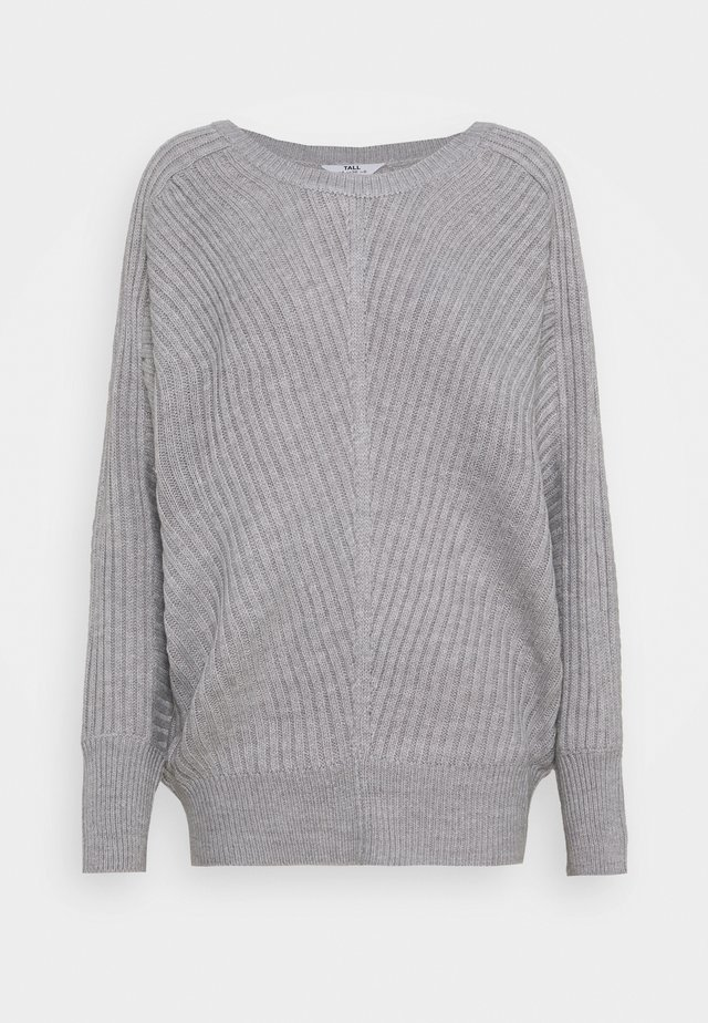 BATWING CREW NECK JUMPER - Sweter - grey marl
