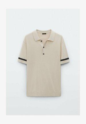 MIT STREIFEN  - Koszulka polo - beige