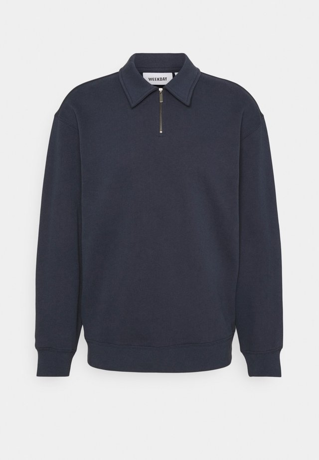 STEFAN HALFZIP UNISEX - Sweatshirts - navy