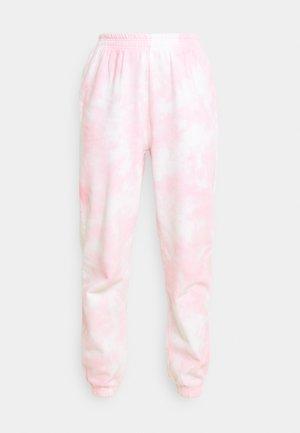 JACKIE - Teplákové kalhoty - pink tie dye