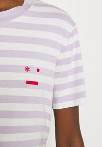 Marc O'Polo DENIM - SHORT SLEEVE STRIPE - Print T-shirt - multi/syringa lilac - 5
