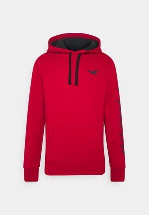 ICONIC PRINT LOGO - Hoodie - red