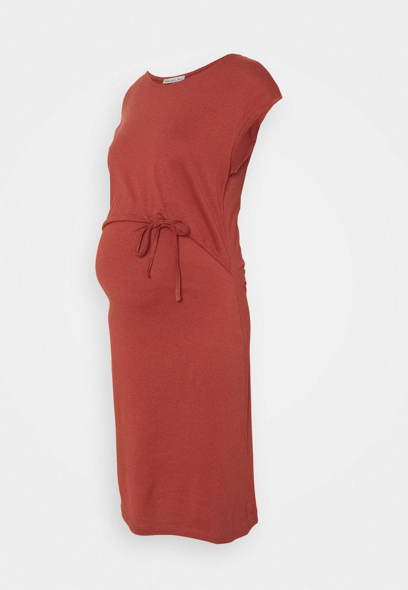 Anna Field MAMA - NURSING Jersey dress - Jersey dress - red