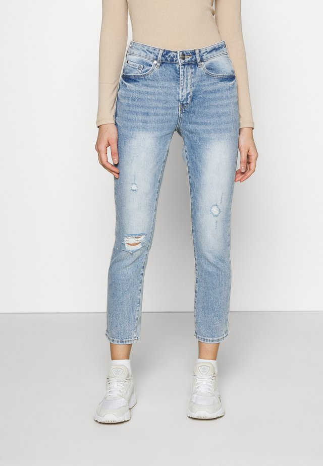 ISABEL MID RISE CROP - Jeans slim fit - light mid wash