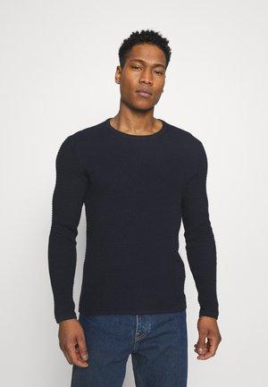 ONSLEXON LIFE STRUCTURE CREW NECK - Stickad tröja - dark navy