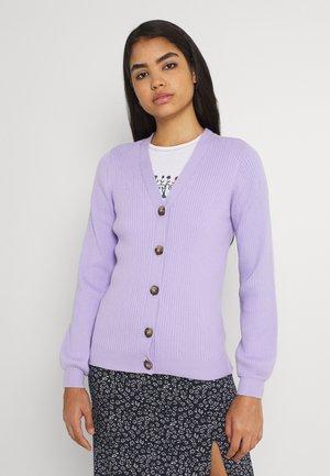 VISOLDANA CROPPED BUTTON  - Neuletakki - lavender