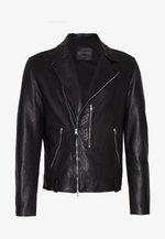 BONDI BIKER - Leather jacket - black